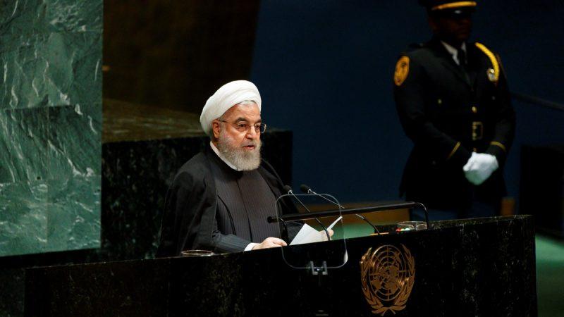 El presidente iraní, Hassan Rouhani, interviene ante la 74 Asamblea de la ONU, en Nueva York