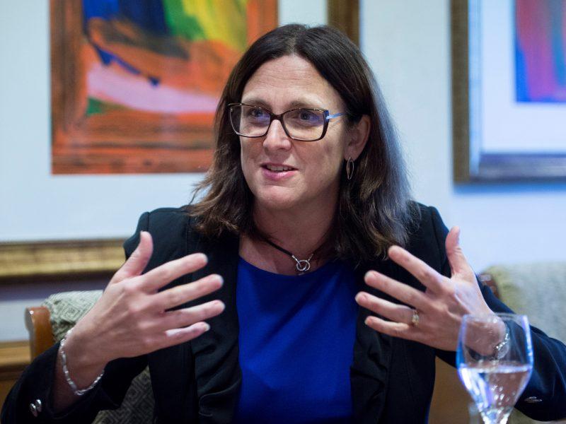 """Malmström, comisaria europea de Comercio: """"mi sucesor tendrá días difíciles"""""""