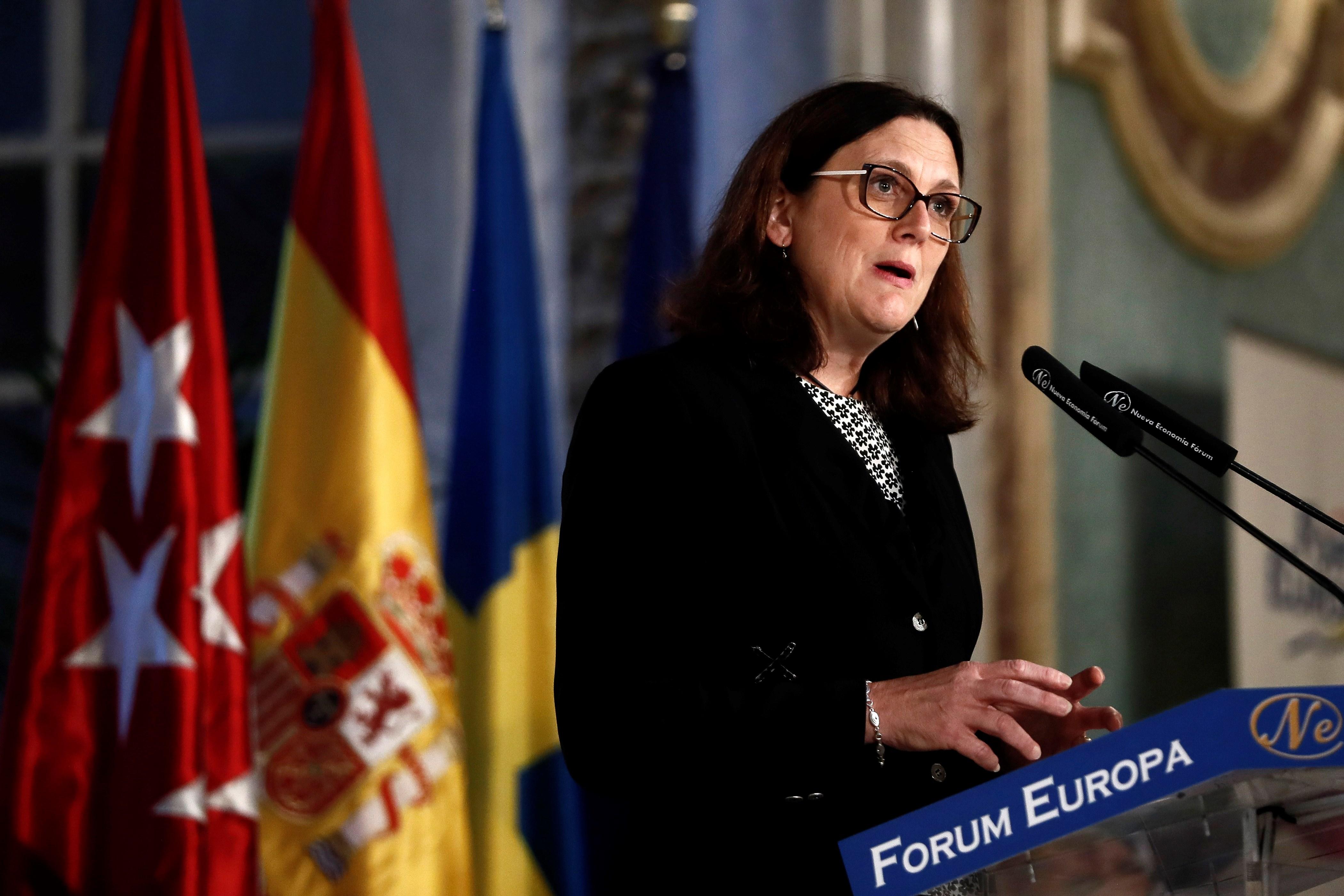 Malmström, en el Foro Nueva Economía
