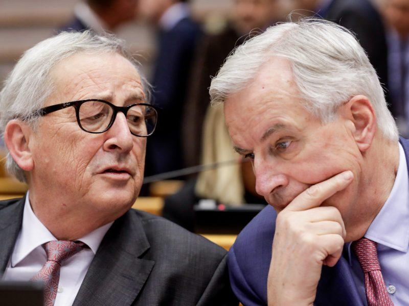 Juncker y Barnier