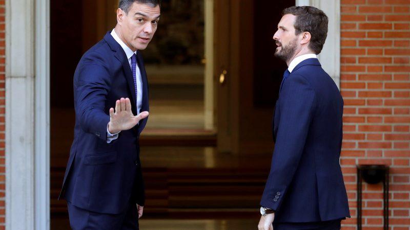 """Sánchez se reúne con Casado para analizar situación en Cataluña tras sentencia del """"procés"""""""