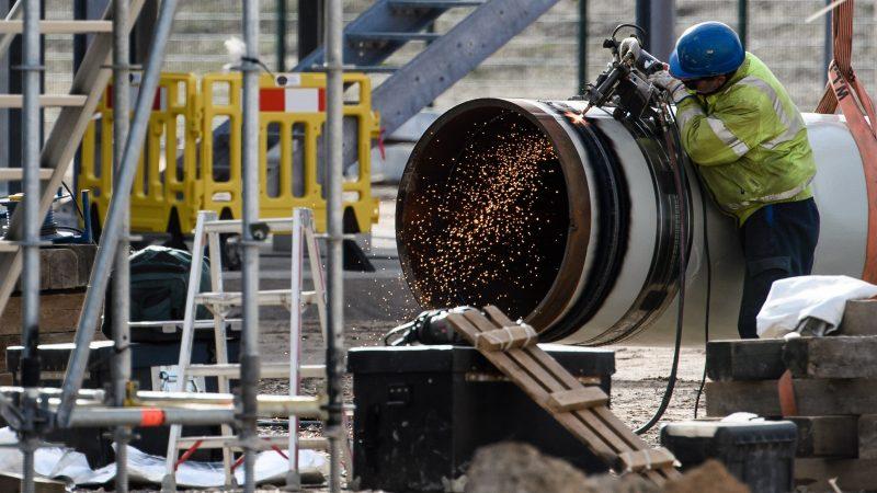 Emplazamiento de la obra del oleoducto Nord Stream 2 en Alemania