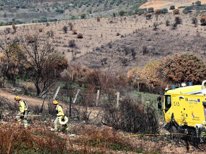 Los bomberos no tienen frontera en La Raya