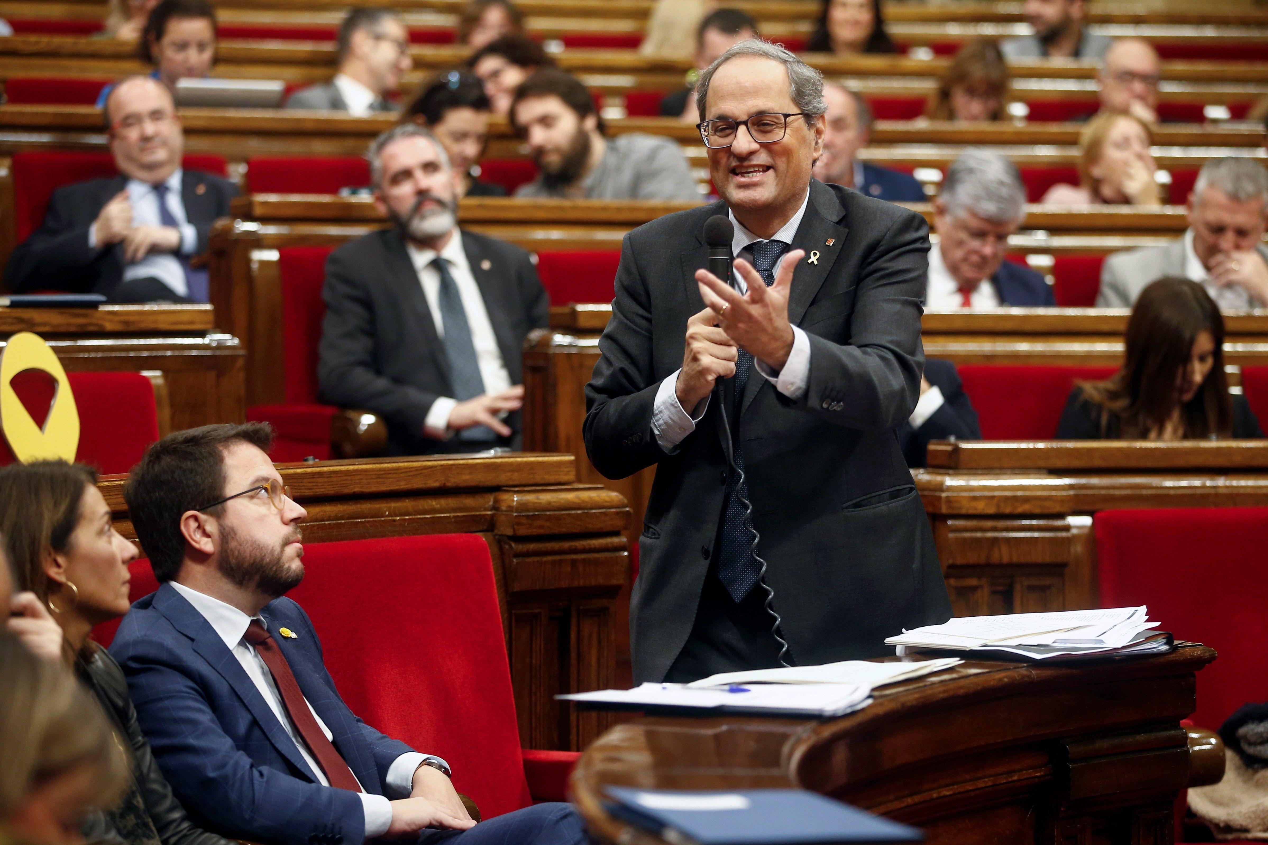 Sesión de control al Govern en el Parlament de Cataluña
