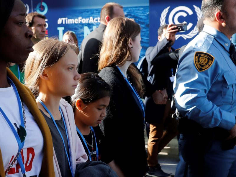 Llegada de Greta Thunberg a la cumbre del clima