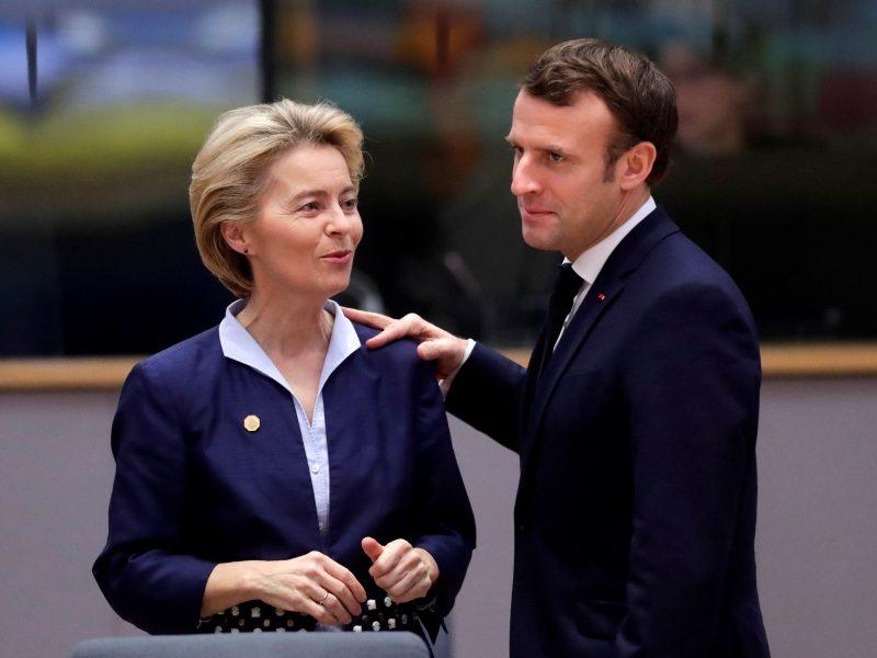 Von der Leyen y Macron