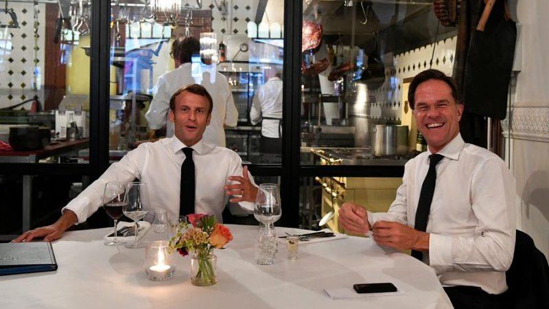 Macron y Rutte